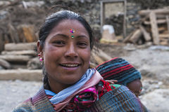 Resident of the village Marpha Royalty Free Stock Photos