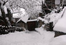 Residentail område i vintern Royaltyfri Foto