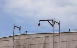 活动空中大厦行业场面视图 建筑用起重机房子新的residental站点 免版税库存照片