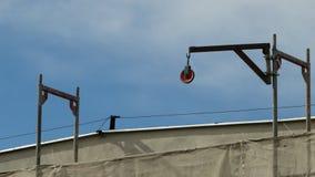κεραία δραστηριότητας που χτίζει τη βιομηχανική όψη σκηνής νέα residental περιοχή σπιτιών γερανών κατασκευής Στοκ Φωτογραφία