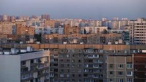 Residental-Bereich der Stadt stock video