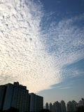 Residental building and cloudscape in Hong Kong Royalty Free Stock Photography