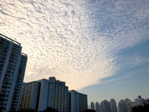 Residental building and cloudscape in Hong Kong Stock Photo