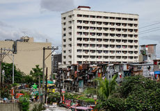 Residental buildings located in Manila, Philippines Stock Image