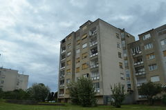 Residental byggnad från 60-tal Arkivbilder