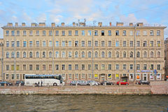 Residental house on Fontanka River Embankment in Saint Petersburg, Russia Stock Photos