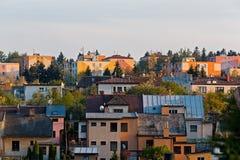 Residental houses in city Jihlava Stock Image