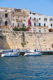Residental houses on the end of Senglea (L-isla) peninsula with Stock Image