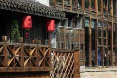 Residente de China a lo largo del reiver Imagenes de archivo