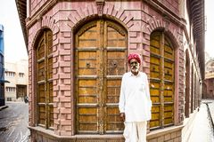 Residente di Bikaner, Ragiastan, India immagini stock