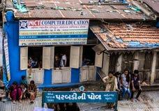 Residente grossamente povoado, Índia foto de stock royalty free