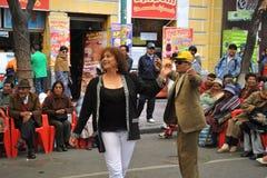 Residentes de la ciudad de la nota del día de fiesta de la ciudad de La Paz Imagenes de archivo