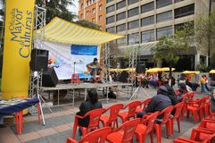 Residentes de la ciudad de la nota del día de fiesta de la ciudad de La Paz Foto de archivo libre de regalías