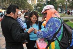 Residenti della città della nota di festa della città di La Paz Immagine Stock Libera da Diritti