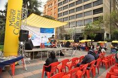 Residenti della città della nota di festa della città di La Paz Fotografie Stock Libere da Diritti
