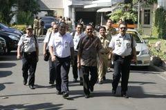 Residenti di ringraziamento sull'elezione del presidente dell'Indonesia Joko Widodo Immagini Stock