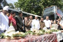 Residenti di ringraziamento sull'elezione del presidente dell'Indonesia Joko Widodo Fotografia Stock