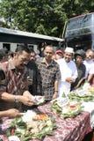 Residenti di ringraziamento sull'elezione del presidente dell'Indonesia Joko Widodo Fotografie Stock
