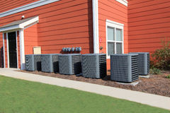 Residential Air Conditioning Units Royalty Free Stock Photos