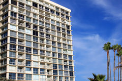 Residential apartment building at coronado beach Stock Images