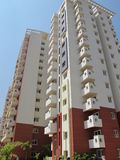 Residential apartment building in India Royalty Free Stock Images