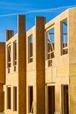 Residential apartment, condominium construction. Using particle board OSB Stock Photos