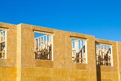 Residential apartment, condominium construction. Using particle board OSB Stock Photo
