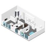 Residential apartment isometric icon set Royalty Free Stock Photos