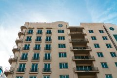 Residential apartments building. Royalty Free Stock Images