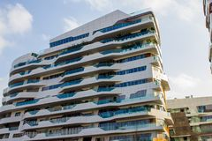 Residential apartments with modern architectural Stock Photo