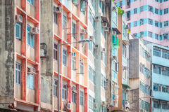 Residential aprtment in old district, Hong Kong Royalty Free Stock Image