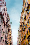 Residential aprtment in old district, Hong Kong, Asia Royalty Free Stock Photo