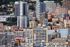 Residential Architecture in Monaco Principality Royalty Free Stock Photo