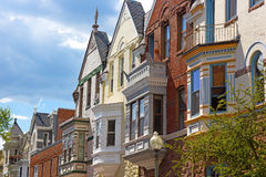 Residential architecture of Washington DC, USA. Royalty Free Stock Photo