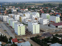 Residential area. View from a helicopter stock image
