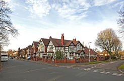 Residential area. Traditional British houses in residential area of Birmingham, UK Stock Photography