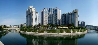 Residential area. This is one of the residential area of Guiyang City—Beside the River stock photo