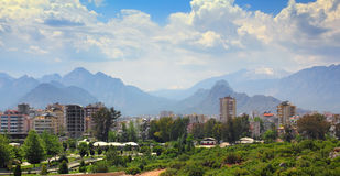 Residential area in antalya city Stock Photos