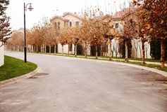 Residential area in autumn Stock Images