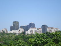 Residential area in Bucharest. Residential area in Vacaresti, Bucharest, viewed from Tineretului park Stock Image