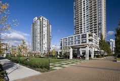 Residential area in Burnaby Stock Photo