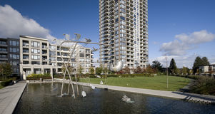 Residential area in Burnaby Stock Image