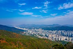 South Korea Busan City View from the Hills royalty free stock image
