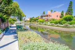 Residential area with canals in Venice Beach, California. Residential area with canals in Venice Beach, Los Angeles, California stock photos
