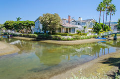 Residential area with canals in Venice Beach, California. Residential area with canals in Venice Beach, Los Angeles, California stock image