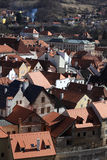 Residential area of Cesky Krumlov town Stock Photos