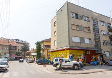 In a residential area of the city of Leskovac, Serbia royalty free stock photo
