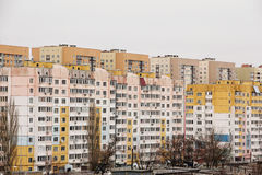 The residential area consists of multi-storey buildings. The residential area consists of multi-storey new houses stock image