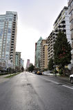 Residential Area of Downtown Vancouver Stock Photography