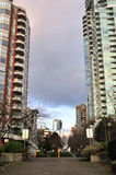 Residential area in downtown vancouver Royalty Free Stock Photography